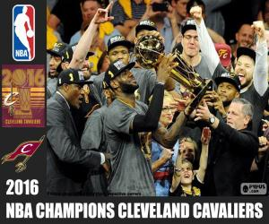 Cleveland Cavaliers, NBA 2016 champion puzzle