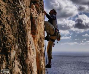Climber climbing puzzle