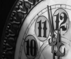 Clock on the verge of the midnight puzzle