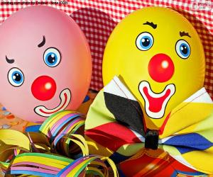 Clown balloons puzzle