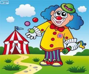 Clown juggler puzzle