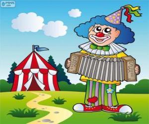 Clown playing the accordion puzzle