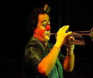 Clown playing trumpet puzzle