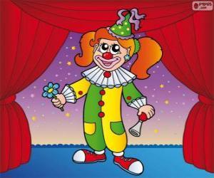 Clown woman puzzle