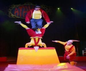 Clowns acrobats puzzle