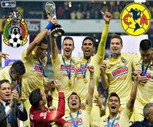 Club America, champion Apertura Mexico 2014 puzzle