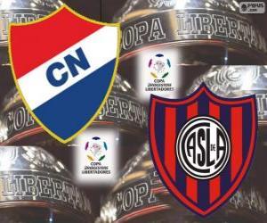 Club Nacional of Paraguay vs San Lorenzo de Almagro of Argentina. Final Copa Libertadores 2014 puzzle