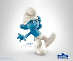 Clumsy Smurf is a bit silly but kind and Flounder - The Smurfs Movie - puzzle