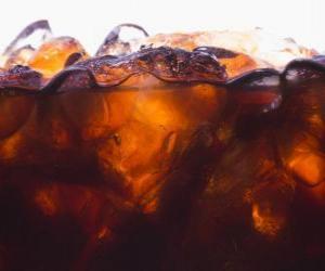 Coca Cola with ice puzzle