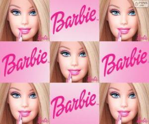 Collage of Barbie puzzle
