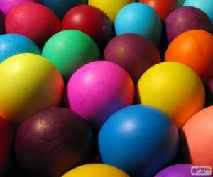 Color Easter eggs puzzle