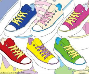 Colored athletic shoes puzzle