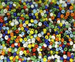 Colored beads puzzle