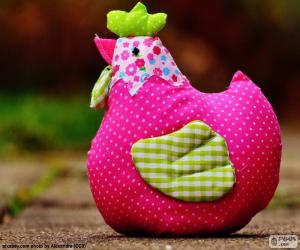 Colorful Easter hen puzzle