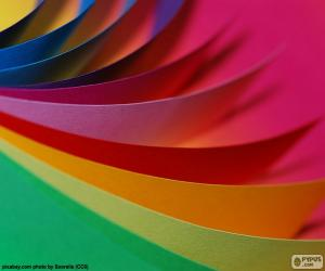 Colors paperboard puzzle