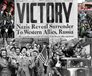 Commemorating the Allied victory over Nazism and the end of World War II. Victory Day, May 8, 1945 puzzle