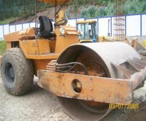 Compacting machine or compactor puzzle