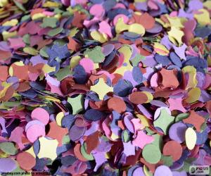 Confetti of colors puzzle