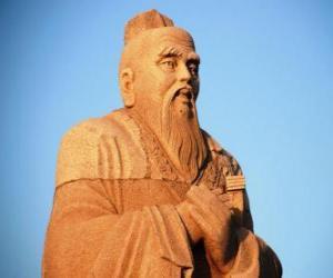 Confucius, chinese philosopher, founder of Confucianism puzzle