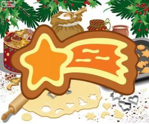 Cookie as a Christmas star puzzle