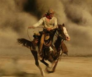 Cowboy riding a horse puzzle