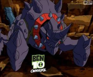 Crabdozer is the Nemetrix Aliens, Ben 10 Omniverse puzzle