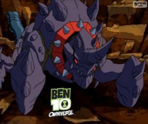 Crabdozer is the Nemetrix Aliens, Ben 10 Omniverse puzzle