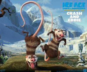 Crash and Eddie, two opossums problematic puzzle
