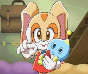 Cream the Rabbit with her Chao, Cheese puzzle