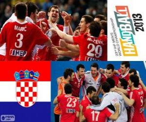 Croatia bronze medal at Handball World 2013 puzzle