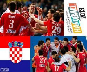 Croatia bronze medal at Handball World 2013 puzzle
