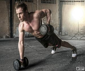 Crossfit with weights puzzle