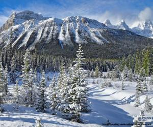 Crowfoot Mountain, Canada puzzle