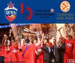 CSKA Moscow,2016 Euroleague champion puzzle
