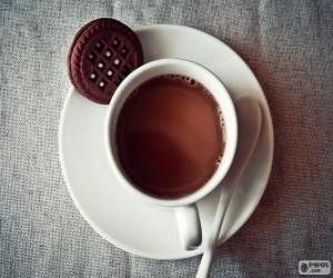Cup of hot chocolate puzzle
