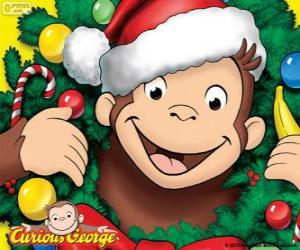 Curious George at Christmas puzzle