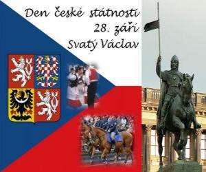 Czech National Day. September 28, St. Wenceslas, patron of the Czech Republic puzzle