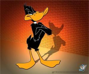 Daffy Duck in the Looney Tunes puzzle