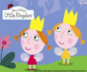 Daisy and Poppy, the twins fairies, the little sisters of Holly puzzle