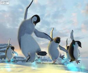 Dancing penguins in Happy Feet movies puzzle