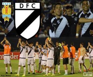 Danubio FC, champion First Division of football in Uruguay 2013-2014 puzzle