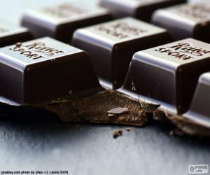 Dark chocolate Tablet puzzle