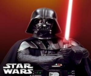 Darth Vader with his lightsaber puzzle