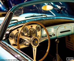 Dashboard of a classic car puzzle