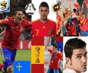 David Villa (Spain's goal) Spanish National Team forward puzzle