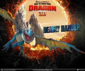 Deadly Nadder, one of the most beautiful dragons in the world that possesses the hottest fire puzzle