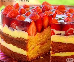 Delicious Strawberry cake puzzle