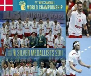 Denmark Silver Medal in the 2011 World Handball puzzle