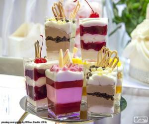 Dessert cups puzzle