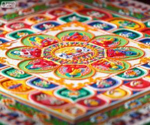 Details of mandala puzzle